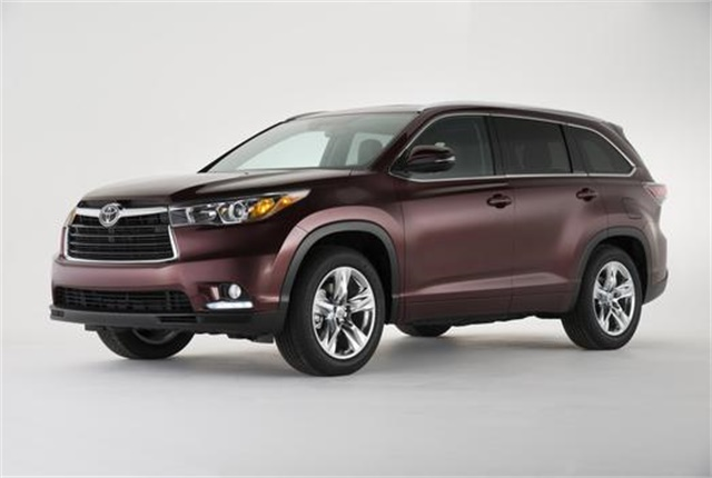 Photo of Toyota Highlander courtesy of Toyota.