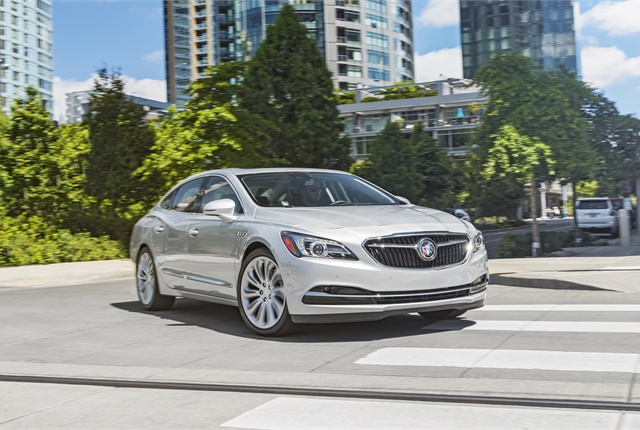 Photo of Buick LaCrosse courtesy of Buick/GM.