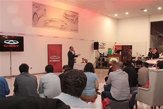 Photo of the launch ceremony for TIGGO5 in Chile, courtesy of Chery.