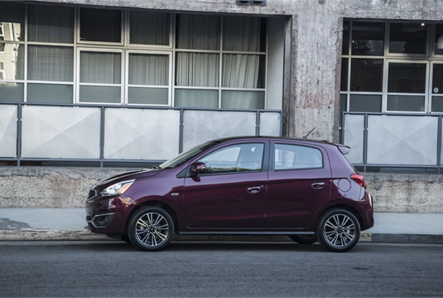 Photo of Mitsubishi Mirage courtesy of Mitsubishi.