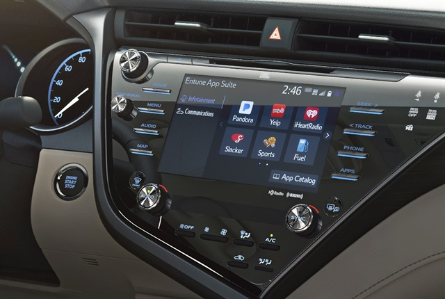 Photo of the Toyota Entune 3.0 courtesy of Toyota.