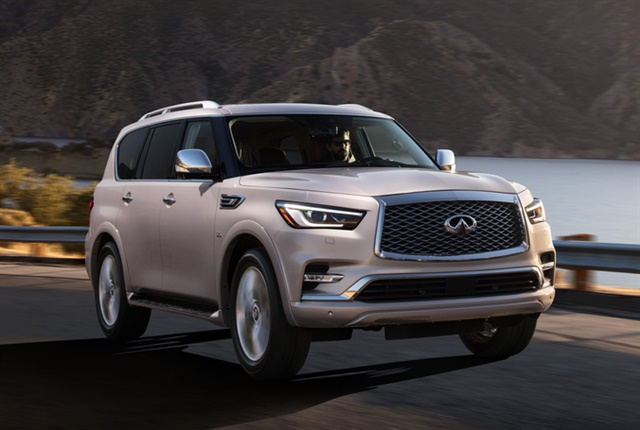 Photo of the 2018 QX80 courtesy of Infiniti.
