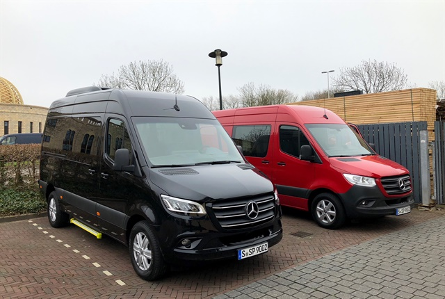 Photo of 2019 Mercedes-Benz Sprinter vans by Paul Clinton.