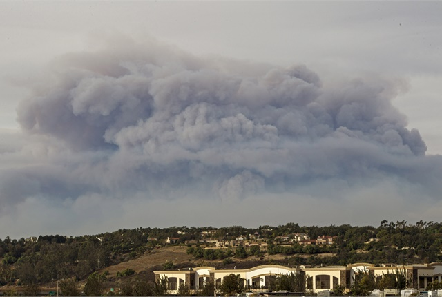 "<p>Photo of smoke from the Thomas Fire in Ventura County, Calif.<em>, via <a href=""https://www.flickr.com/photos/caguard/38103764265/in/album-72157667331704819/"" target=""_blank"">California National Guard</a>/Flickr</em></p>"