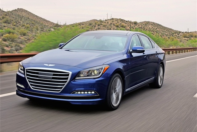 Photo of 2015 Hyundai Genesis courtesy of Hyundai.
