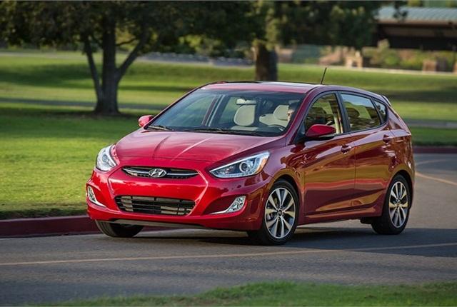 Photo of Hyundai Accent courtesy of Hyundai.