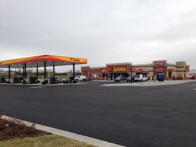 Love's new Dayton, Ohio location.