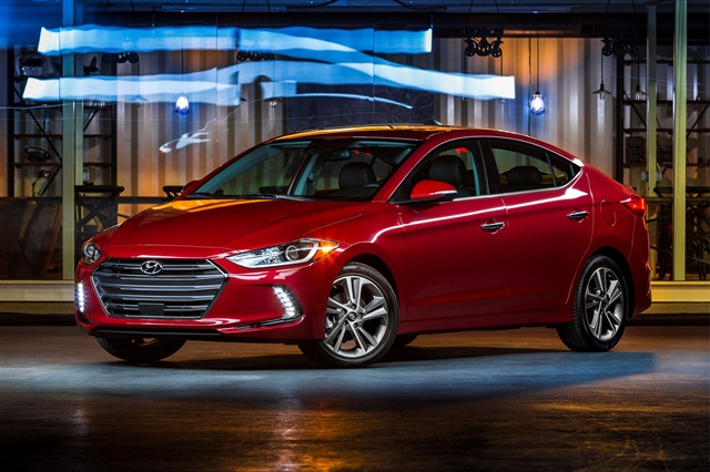 2017 Elantra, photo courtesy of Hyundai.