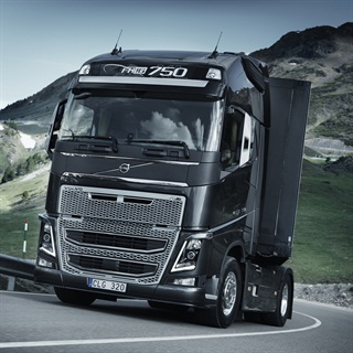 Volvo's new FH16 with 750 horsepower.