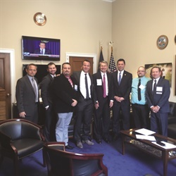 "<p><em>At last year's Legislative Conference, ""West"" delegation visited the offices of former U.S. Rep. Jason Chaffetz (R-Utah) (right of flag). Chaffetz explained the importance of face-to-face interaction to understand the issues. <br /></em></p>"