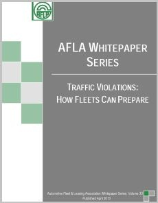 AFLA has released a white paper on how fleets can prepare to deal with traffic violations.