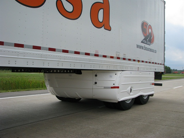 Trailers with undercarriage devices consumed almost 1.5% less fuel than trailer without deflectors.