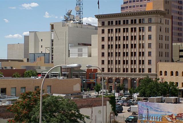 <p><em>Photo of downtown Albuquerque by Asaavedra32/Wikimedia Commons.</em></p>
