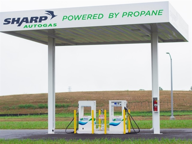 Photo of the fueling station courtesy of Alliance Autogas.
