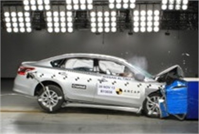 The Nissan Altima was among the vehicles to receive the top 5 star safety rating from ANCAP