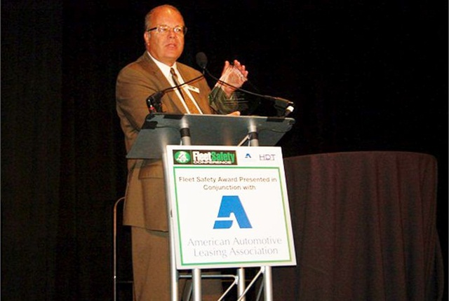 Mike Antich, editor and associate publisher of Automotive Fleet magazine, during last year's Fleet Safety Award ceremony.