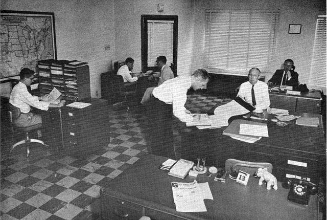 The ARI sales department circa the 1950s.