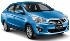 The Mitsubishi Attrage will be launched in Thailand in July.