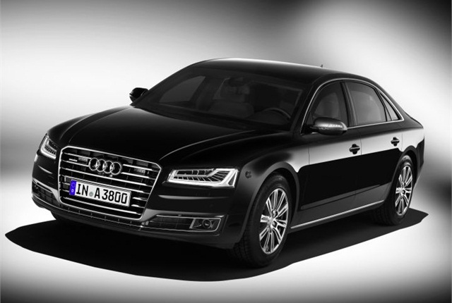 Photo of A8 L Security courtesy of Audi.