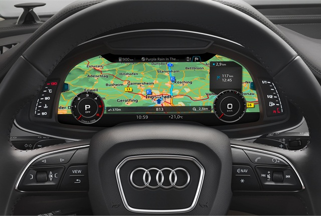 Photo of 2016 Q7 high-res map courtesy of Audi.