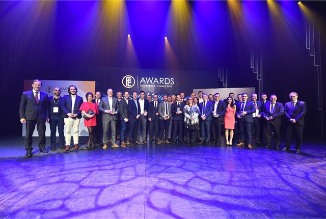 Photo of the award winners and sponsers courtesy of Fleet Europe.