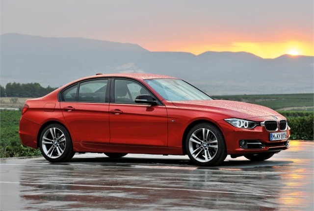 Photo of the 3 Series first introduced as a 2012-MY vehicle courtesy of BMW.