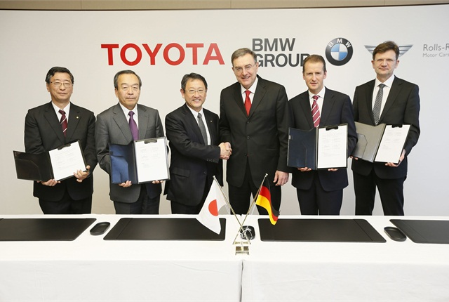 Excecutives from BMW Group and Toyota have signed binding agreements to develop a range of new technologies. Photo courtesy BMW Group.