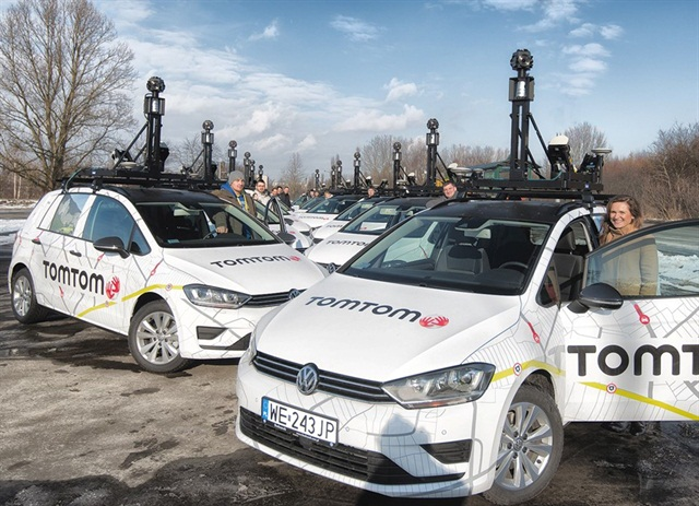 Photo of Tom Tom's mapping fleet courtesy of Bosch.