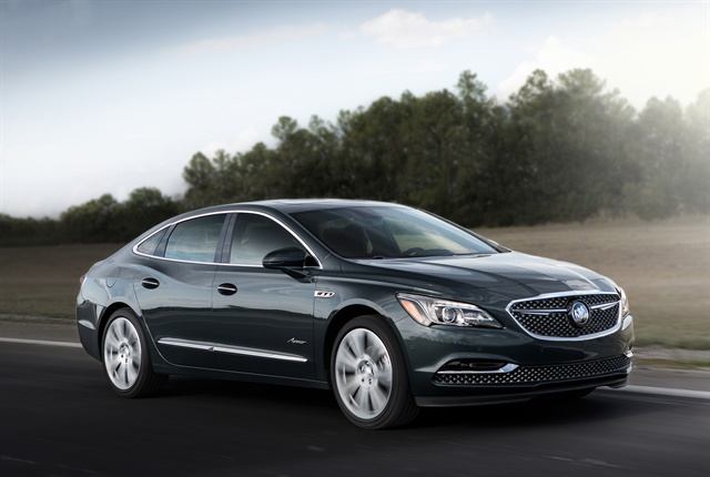 Photo of the 2018 Buick LaCrosse Avenir courtesy of GM.