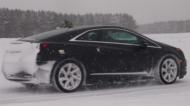 The Cadillac ELR extended range electric vehicle underwent cold-weather testing during the development process. Photo courtesy GM.