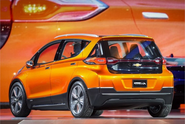 Photo of Chevrolet Bolt EV concept vehicle courtesy of GM.
