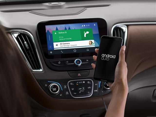 Chevrolet Malibu equipped with Android Auto, photo courtesy of the automaker.