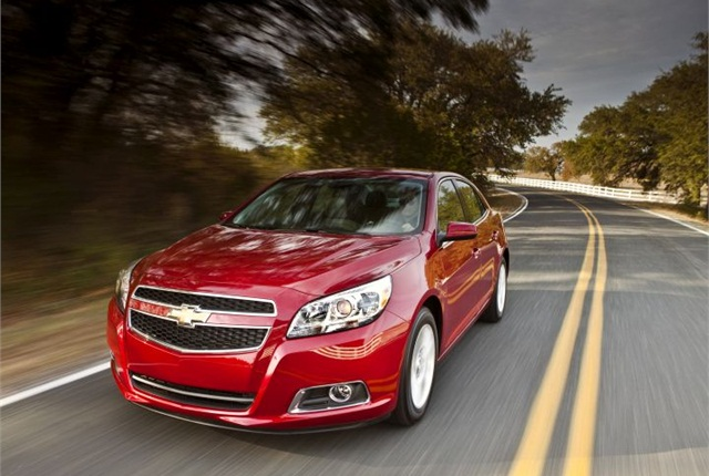 Photo of 2013 Chevrolet Malibu Eco courtesy of GM.
