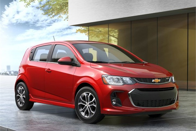 Photo of 2017 Chevrolet Sonic courtesy of GM.