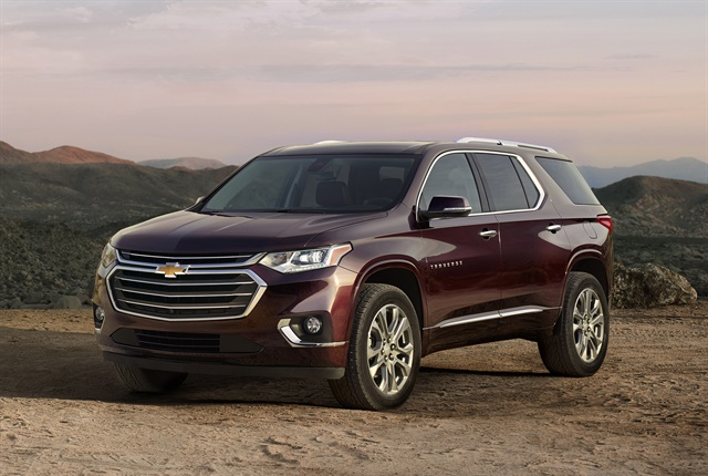 Photo of 2018 Chevrolet Traverse courtesy of GM.
