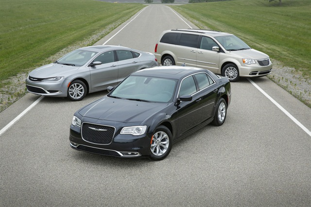 (From left to right) 200, 300 (front), Town and Country. Photo courtesy of FCA.