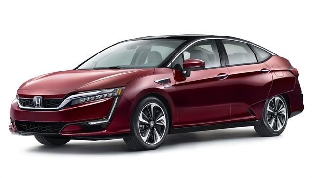 Photo of Clarity Fuel Cell courtesy of Honda.