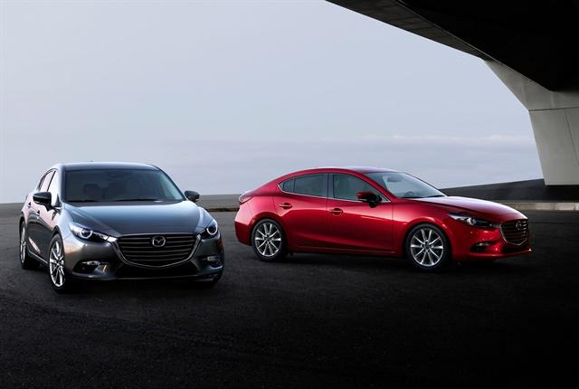 2018 Mazda3 sedan and hatchback courtesy of Mazda.