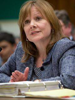 General Motors CEO Mary Barra testifies before the House Committee on Energy and Commerce Subcommittee on Oversight and Investigations. (Photo by Mark Finkenstaedt for General Motors)