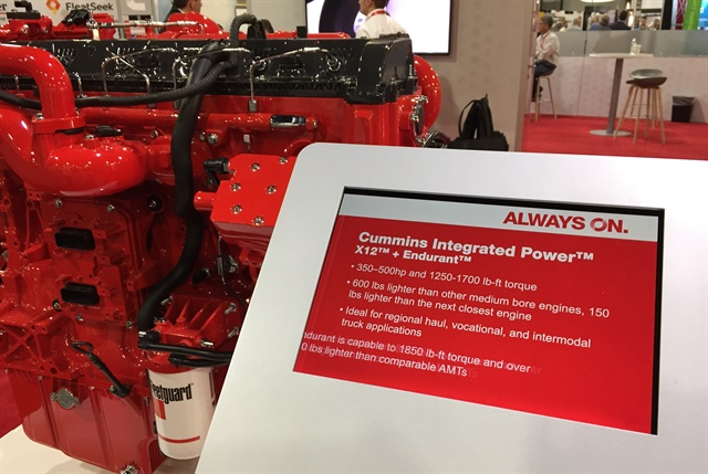 <p><strong>Cummins highlighted the new name at its booth at the Technology & Maintenance Council annual meeting.</strong> <em>Photo: Deborah Lockridge</em></p>