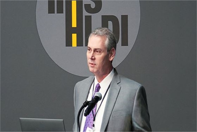 David Harkey speaks at an IIHS event in August. Photo courtesy of IIHS.