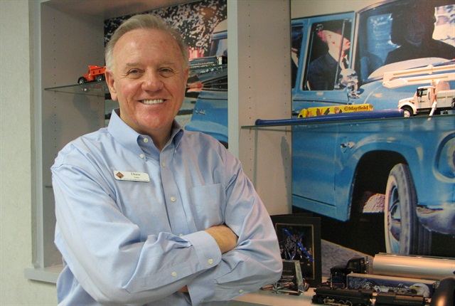 HDT/ATD 2013 Truck Dealer of the Year Drew Linn, shown here in his Homewood, Ala., office, recently spoke to ATD Dealer Academy graduates.