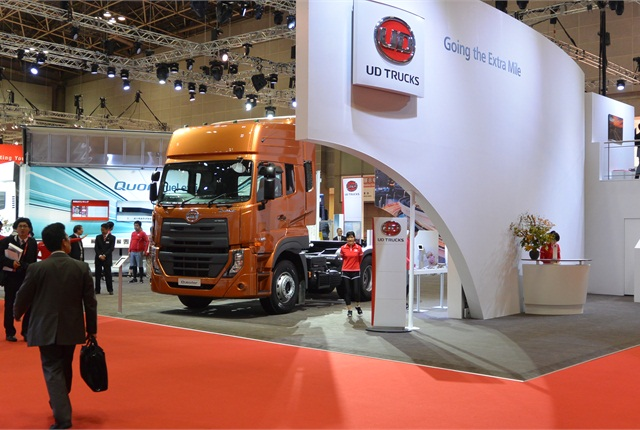 Volvo was the first foreign truck company in the Japanese market. Its UD Quester is a strategic model designed to do the job in the Third World. It is build in India, Thailand and China.
