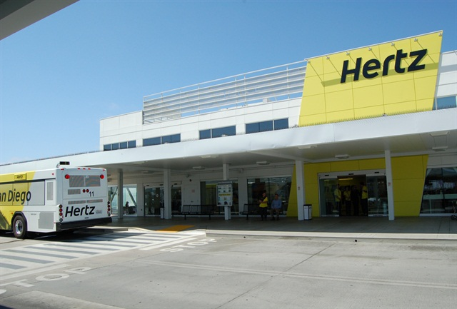 Hertz redesigned and updated its San Diego International Airport facility.
