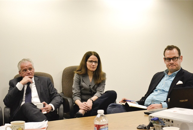 Mercedes-Benz execs Claus Tritt, Antje Williams, and Christian Bokich field questions from Bobit Business Media editors.