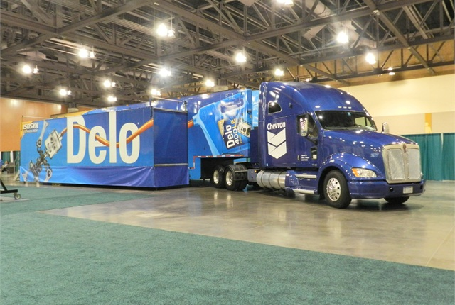 The Delo educational truck from Chevron. Delo was a lead sponsor this year, providing lunch and one of the keynote speakers.