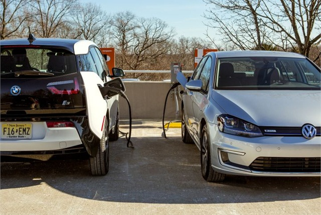 "Photo of ""express"" charging courtesy of Volkswagen."