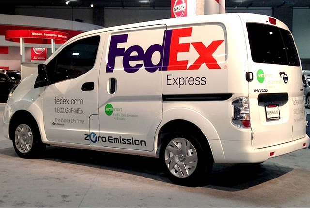 FedEx will test the all-electric e-NV200 in Washington, D.C.