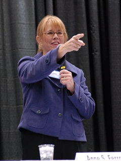 Ferro at an hours-of-service listening session at the Mid-America Trucking Show in 2010.