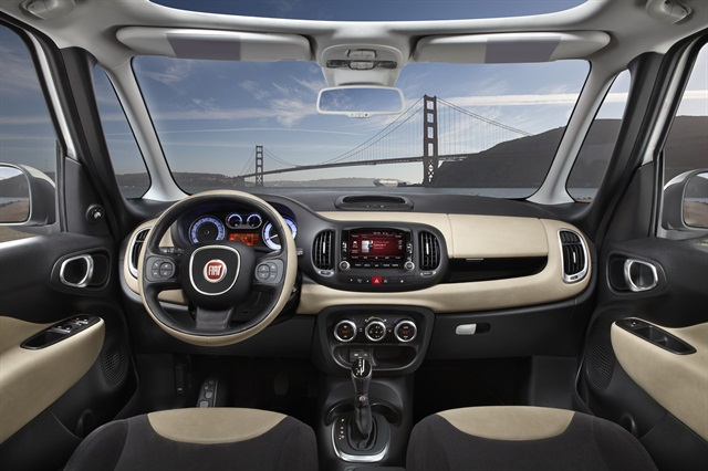 The all-new 2014-MY Fiat 500L features 42 percent more interior space, according to the automaker.
